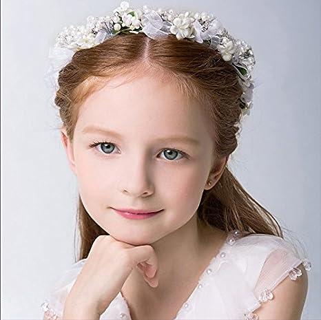 KMALL Rosa coroncina fiori capelli regolabile fiore per sposa damigella  donore bambina donna per matrimonio fotografia ... c5d77da50b20