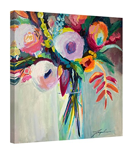 Easy Art Prints Jacqueline Brewer's 'Ode to Summer 7' Premium Canvas Art - 16