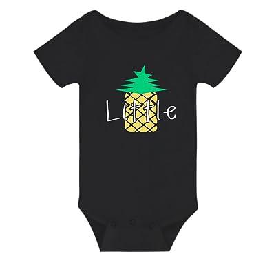 7c4bd3812e2a Amazon.com  Amberetech Baby Romper with Big Smalls Little Pineapple ...