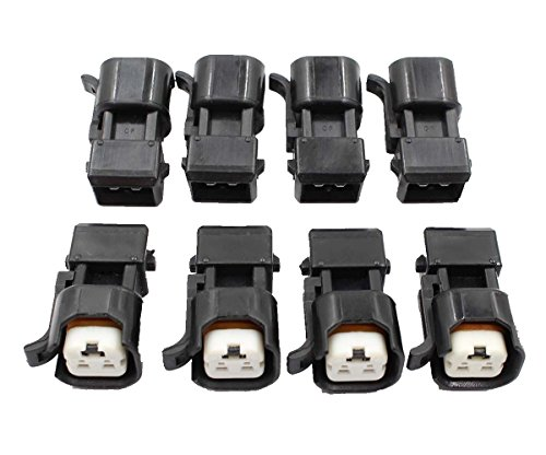 AUTOKAY 8pcs Fuel Injector Adapter Kit for EV1 to USCAR EV6 & EV14 Chevy LS1 LS2 LS3