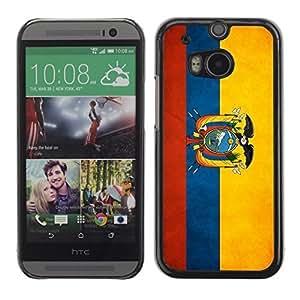 YOYO Slim PC / Aluminium Case Cover Armor Shell Portection //Ecuador Grunge Flag //HTC One M8