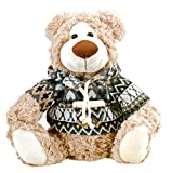 Cute Plush Teddy Bear in a Jacket Stuffed Animal 10 inches by Bo Toys