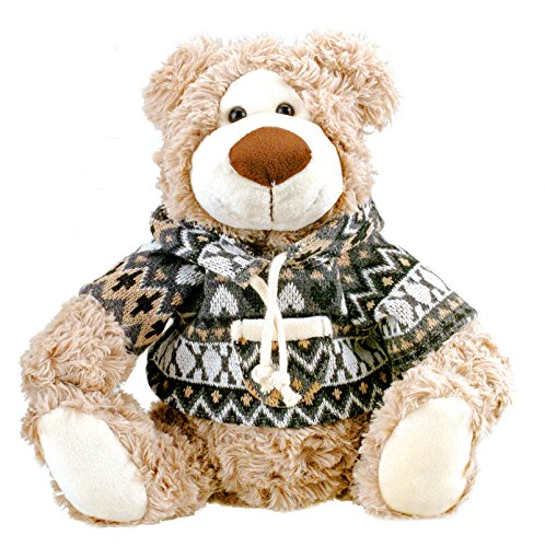 Cute Plush Teddy Bear in a Jacket Stuffed Animal 10 inches by Bo Toys from Bo-Toys