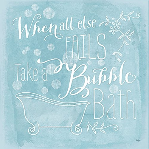 Take a Bubble Bath By Mollie B - 30 x 30 Premium Gallery Stretched Canvas Ready to Hang (Bubble Mollie)