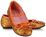 Orange Sparkle Ballet Flat Child Shoes