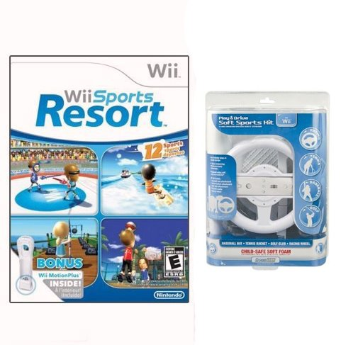 Wii Sports Resort + DreamGear Play & Drive Soft Sports Kit for Wii