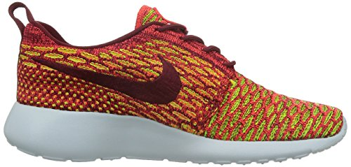 Nike WMNS Roshe One Flyknit, Chaussures de Sport Femme, Rouge Multicolore - Rouge/Cramoisi/Violet (Team Red / Tm Rd-brght Crmsn-vlt)
