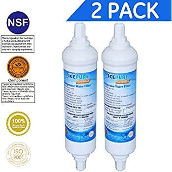 Icepure rwf0400a compatible with daewoo siemens ef9603 dd7098 refrigerator water for Ge exterior refrigerator icemaker filter gxrtqr