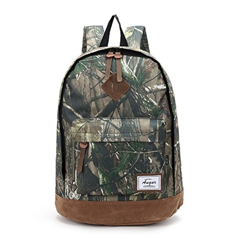 Backpack School Bag for Teenagers College Waterproof Oxford Travel Bag 15inch Laptop Back packs Bolsas Camouflage Green 15 Inches