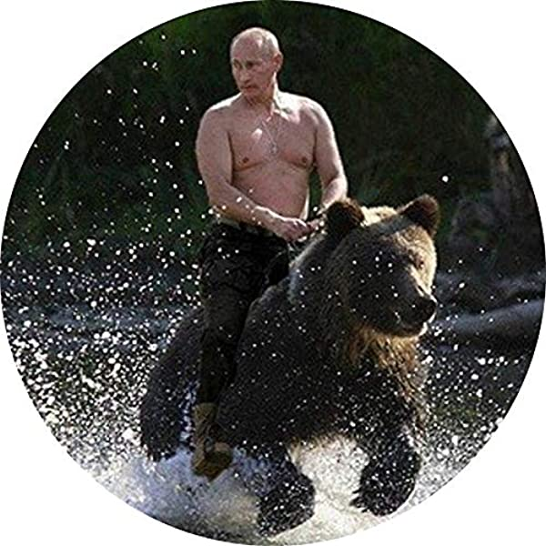 Amazon Com Magnet Putin Riding Bear Magnet Decal Fridge Metal Magnet Window Vinyl 5 Kitchen Dining
