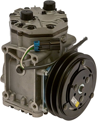 Style Freightliner (Brand New AC Compressor with Double V band clutch Fits ET210L Freightliner Kenworth Peterbilt York Style)