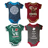 Baby Toddler Plain 100% Cotton Canada Themed Onesie (Boys 3-6 Months)