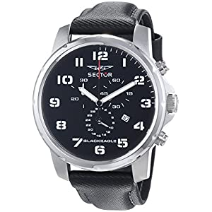 Sector Men's R3271689025 Black Eagle Black Dial Watch