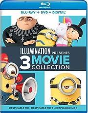 Illumination Presents: 3-Movie Collection (Despicable Me / Despicable Me 2 / Despicable Me 3) Blu-ray + DVD + Digital