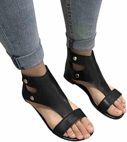 e5acdd716873b4 vermers Clearance Deals Women Casual Shoes - Ladies Summer Sandals Fashion Flat  Roman Shoes