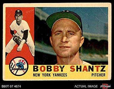 Amazoncom 1960 Topps 315 Bobby Shantz New York Yankees