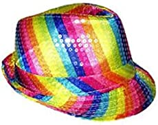 b8d7617eac636 Arsimus Rainbow Fedora Hat Gay Pride Sequins Bright…  7.99 7.99.  Bestseller. (7). DEAL OF THE DAY. ENDS IN. LED ...