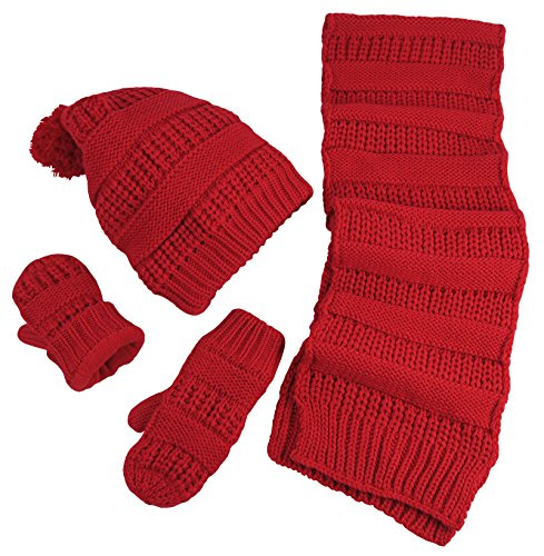 nice-caps-little-girls-and-infants-solid-cable-knit-hat-scarf-mitten-accessory-set-4-6-years-red