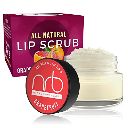 NRB Beauty Revival Lip Scrub - All Natural Sugar Based - Exfoliating & Moisturizes Chapped Dry Lips - 0.5 oz Each - Made In The USA - Grapefruit