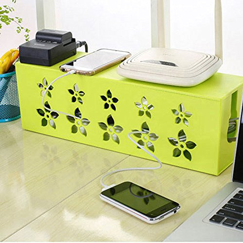 yazi Power Cable Management Box for Desk TV Computer Cord...