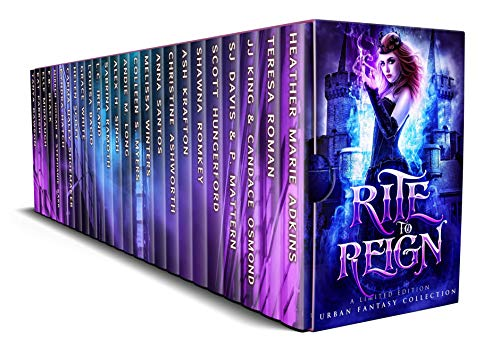 Rite to Reign: A Limited Edition Paranormal Romance and Urban Fantasy Box Set by [Adkins, Heather Marie , Roman, Teresa, King, JJ, Osmand, Candace, Davis, SJ, Mattern, P., Hungerford, Scott, Romkey, Shawna , Krafton, Ash, Ashworth, Christine, Santos, Anna , Winters, Melissa , Myers, Colleen S., Long, Andie M., Singh, Alex H., Ramoth, Sabrina, Ireland, L.C. , Bacio, Louisa, White, Grace , Scott, Helen , Shoemaker, Carma Haley , Hatch, Kyndra , Hogan, Mirren , Barr, Stephanie , Black, E.B., Middaugh, Elle , Parrish, Kat , Dawson, Tanya ]
