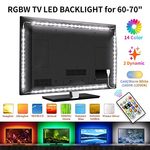 BASON TV LED Backlight, RGBW TV Light Strip for 60-70