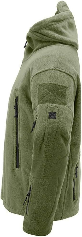 Il Lavoro e Il Tempo Libero Memoryee Antivento Giacca in Pile da Uomo Outdoor Militare Caldo Cappotto per Lo Sport