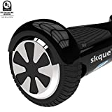 Skque I1.1 UL2272 Smart Two Wheel Self Balancing Electric Scooter, Black, 6.5