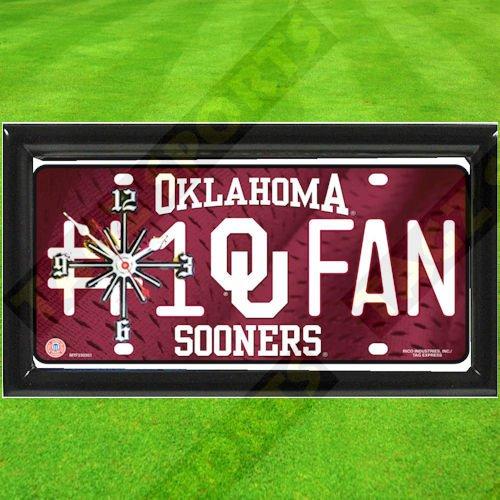 Oklahoma Sooners Wall Clock - OKLAHOMA SOONERS NCAA CLOCK - BY TAGZ SPORTS