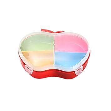 Girasol® hielo congelado para aperitivos plato de servir bandejas de plato dividido, Creative Fashion Colorful cuatro o cinco rejilla plástico ...