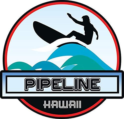 HZ Graphics Surfing Pipeline Hawaii Oahu Surf Surfboard Waves Vinyl Decal Wall Laptop Bumper Sticker 5