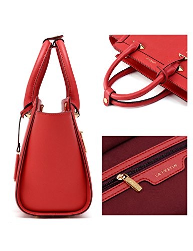 and Rot Travel Leather Fashion Hobo for Genuine More Classic Luxury Shoulder Large Purses Designer Accessorize Women Trendy bag Handbags in Ladies LA'FESTIN Tote gqpRf
