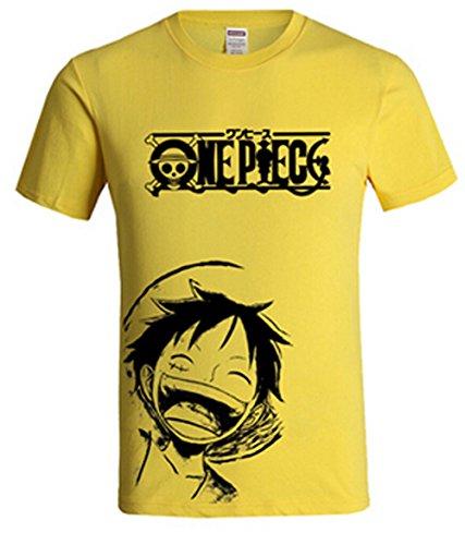 Xin-ze Unisex One Piece Luffy Cotton Short-sleeved T-shirt