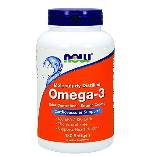 NOW Omega 3 Enteric Coated Softgels product image
