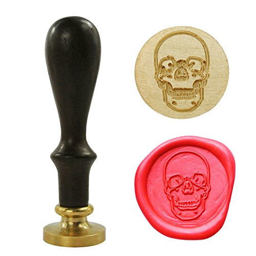 UNIQOOO Arts & Crafts Skull Head Skeleton Face Wax Seal Stamp, Great Embellishment of Cards, Envelopes, Invitations, Wine Packages, Gift Idea (Stamp Skull)
