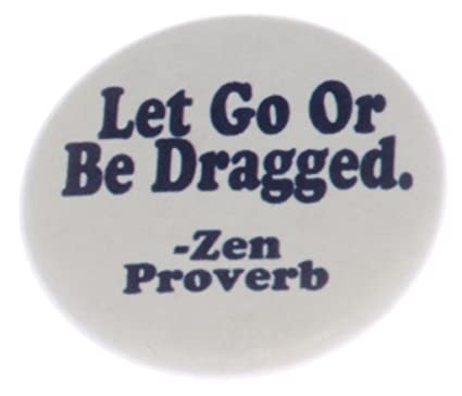 Amazoncom Let Go Or Be Dragged Zen Proverb Magnet