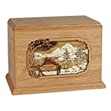 Wood Cremation Urn - Oak Soulmates Companion Hampton