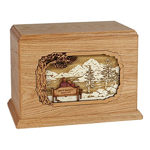Wood Cremation Urn - Oak Soulmates Companion Hampton