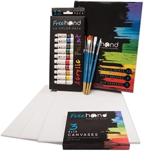 Acrylic Paints Brushes Canvas Ultimate product image