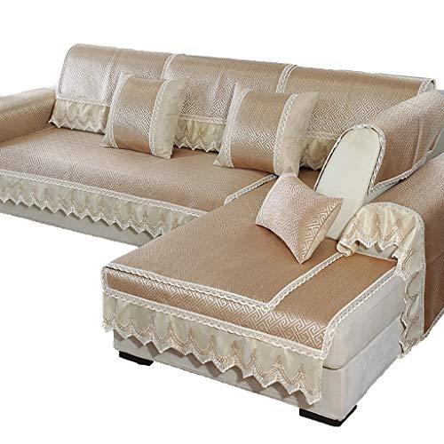 GDSFT Sofa Covers, Summer Sofa Cushion Cool Mat Living Room Universal Cushion Ice Silk Rattan mat Non-Slip Sofa Cover Settee Pet Dog Protector (Size : 6060CM(2323in))