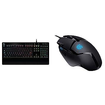 4c86e17b704 Logitech G213 Prodigy Gaming Keyboard, RGB Backlit, Qwerty UK Layout -  Black + Logitech