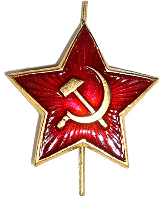 10 PACK GENUINE RUSSIAN MILITARY RED STAR PIN BADGES Soviet army beret pins USSR
