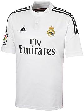 Adidas Real Madrid Mens tamaño pequeño Fly Emirates auténtico Climacool Blanco casa Camiseta Original y auténtico: Amazon.es: Deportes y aire libre