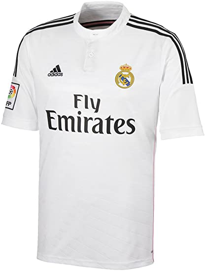 Adidas Real Madrid Talla XL, Fly Emirates Mens auténtico Climacool Blanco casa Camiseta Original y