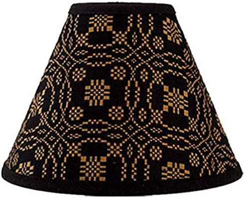 Home Collection by Raghu Lover s Knot Jacquard Black and Mustard Lampshade, 14