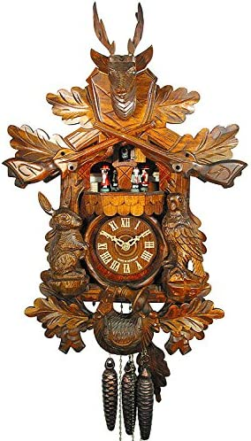 German Cuckoo Clock 1-day-movement Carved-Style 19.00 inch – Authentic black forest cuckoo clock by August Schwer