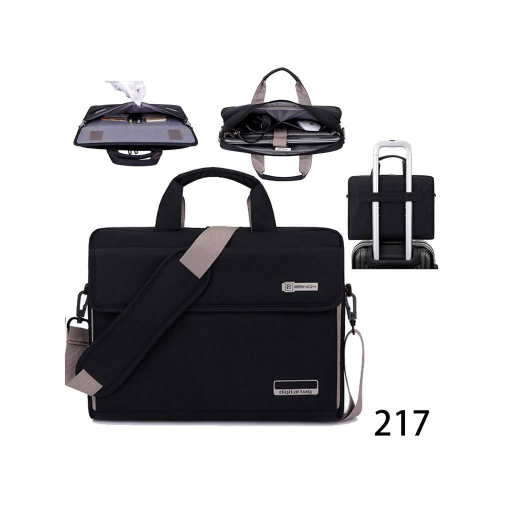 QSJY File Cabinets 15.6 Inch Handbag with Shoulder Slanting Gamebook Computer Package 41(W)×31(H)×9(T) cm (Color : Black, Size : 41(W)×31(H)×9(T) cm) by QSJY File Cabinets