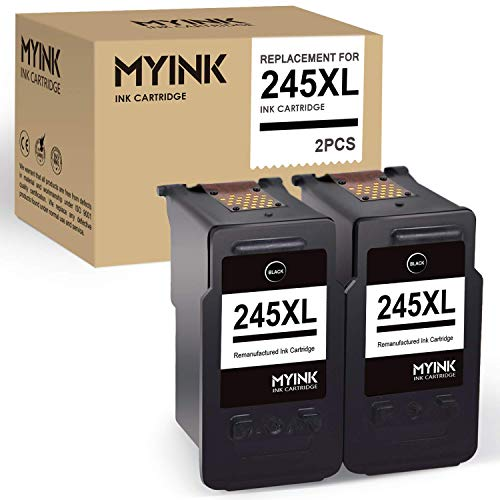 - MYINK Remanufactured Ink Cartridge Replacement for Canon 245 245XL PG-245XL 243 (2 Black) use in Pixma TS3122 TS3120 MX492 MX490 MG2420 MG2520 MG2522 MG2924 MG2920 IP2820 Printer