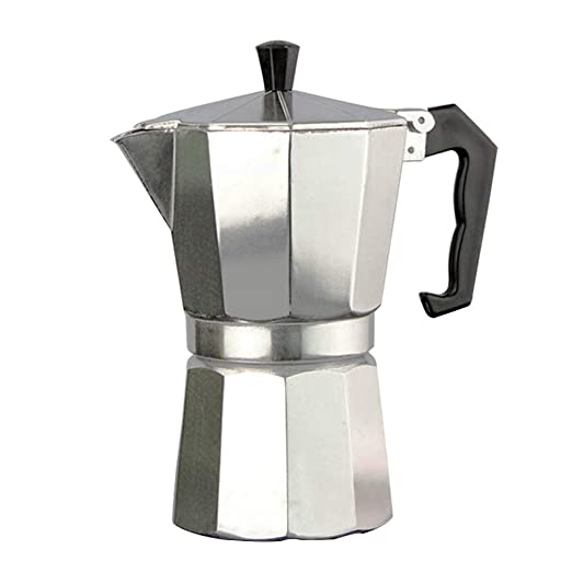 JHFF - Cafetera italiana de aluminio con filtro para café, diseño ...