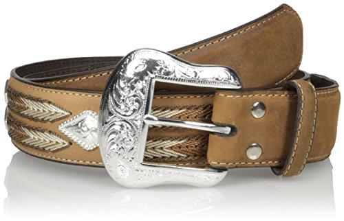 [Nocona Men's Diamond Cncho Multi-Stitch, Medium Brown, 36] (Diamond Concho Belt)